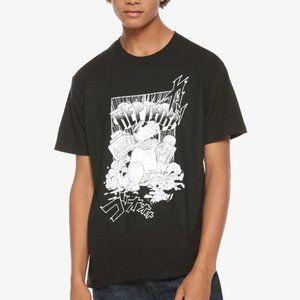 NEW mens black nickelodeon Reptar top shirt